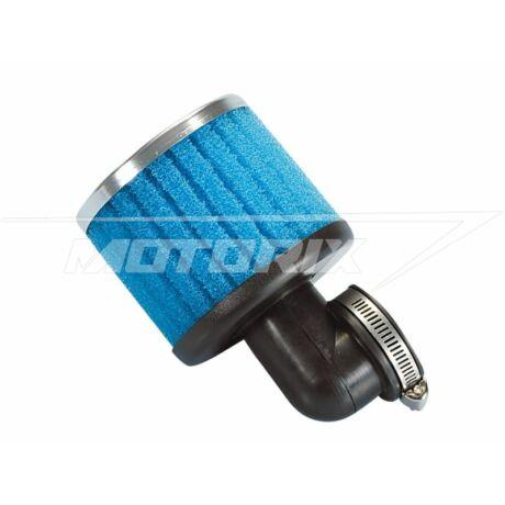 Levegőszűrő 38mm 90° hajlított hosszú (kék) Polini