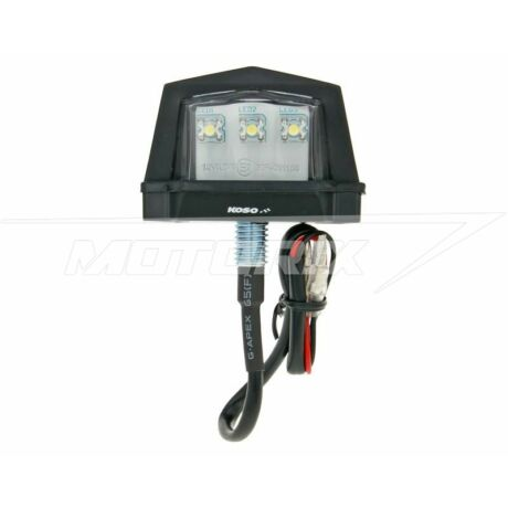 Lámpa hátsó (rendszámtábla világítás) 11,8x45,6x28,8mm LED univerzális Koso