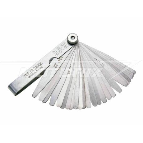 Gyertya hézagmérő szerszám 0.051-0.635mm (26 lapos) Silverline
