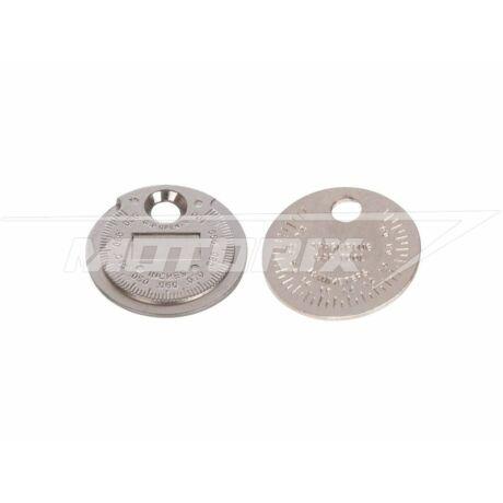 Gyertya hézagmérő szerszám 0,5-2,55 mm/0,02-0,1 inch Silverline