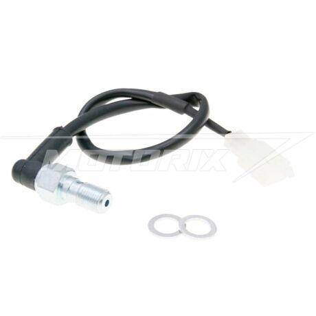 Féklámpa kapcsoló hidraulikus lábfékhez M10x1 Aprilia, Derbi Senda, Gilera (EBE, D50B, AM6, EBS)