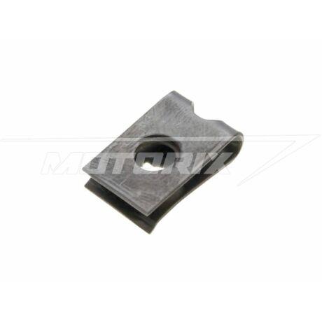 Idomrögzítő bolha 11x16x4,2mm - fekete (1db) OEM
