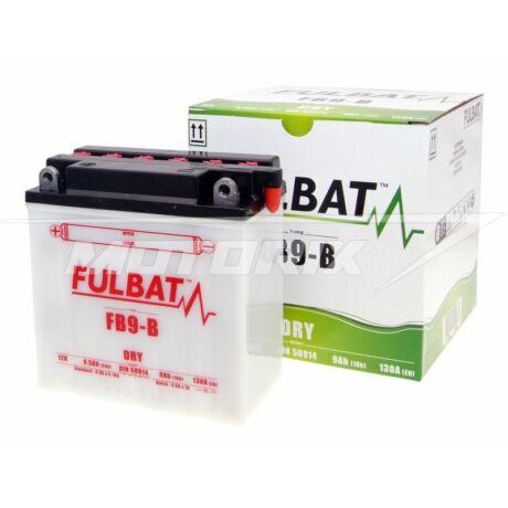 Akkumulátor 12V 9Ah (FB9-B) (sav nélkül)Fulbat