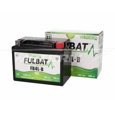 Akkumulátor 12V 5Ah (FB4L-B) GÉL (nagy teljesítményű)Fulbat