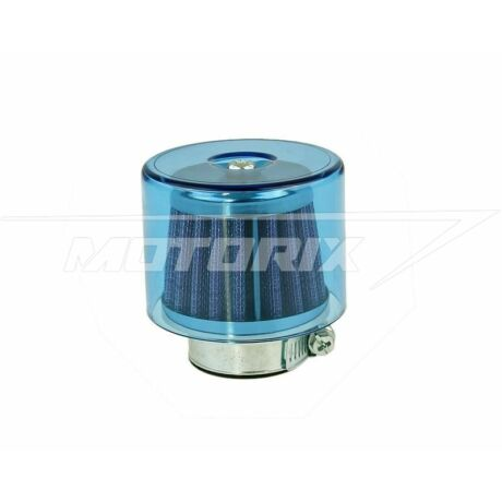 Levegőszűrő 35mm egyenes fém szűrős kék 101-Octane