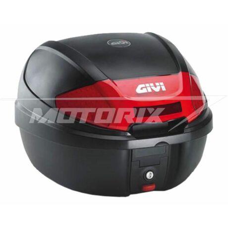 Tároló doboz hátsó fekete-piros 30L GiVi E300