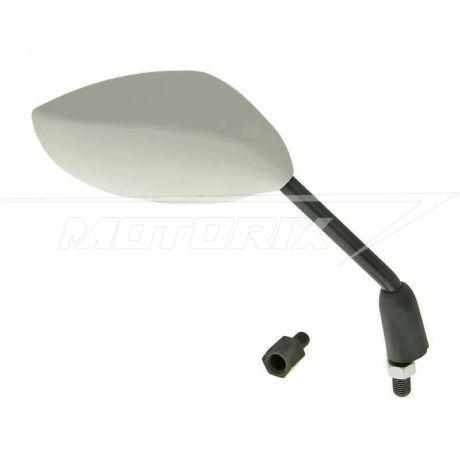 Tükör jobb sportos M8/M10 ovális fehér univerzális V-parts
