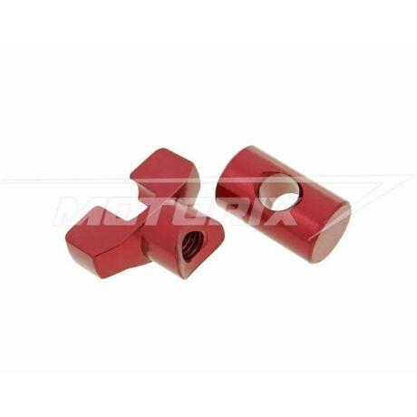 Fékbowden állító szett piros M6 alumínium V-parts