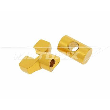 Fékbowden állító szett arany M6 alumínium V-parts