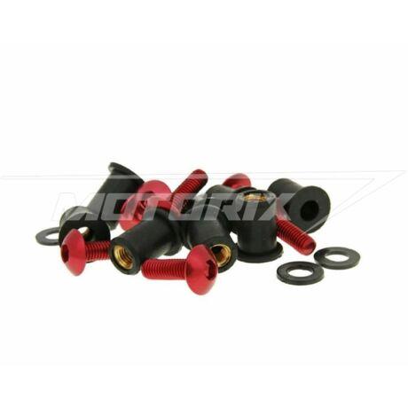 Csavar szett alumínium piros 8 db-os M5x16 V-parts