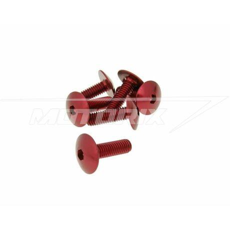Csavar szett eloxált alumínium piros 6 db-os M6x20 V-parts
