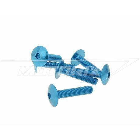 Csavar szett eloxált alumínium kék 6 db-os M6x30 V-parts