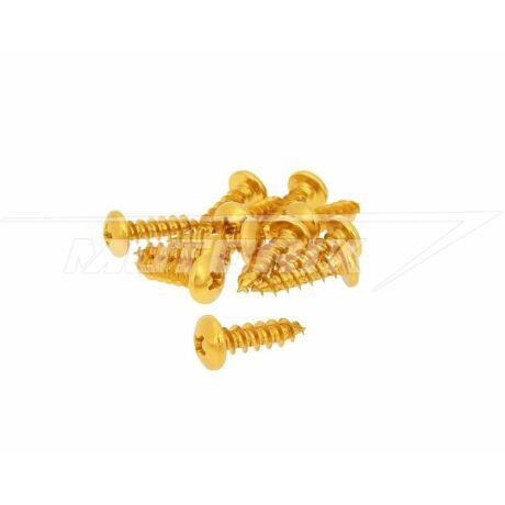 Csavar szett alumínium arany 12 db-os M6x20 V-parts