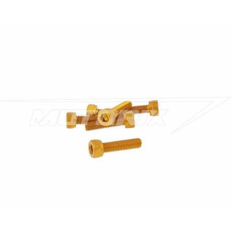 Csavar szett hatszögletű alumínium arany 6 db-os M5x20 V-parts