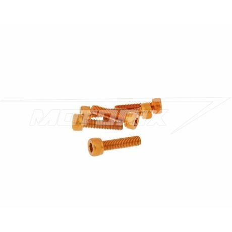 Csavar szett hatszögletű alumínium narancs 6 db-os M5x20 V-parts