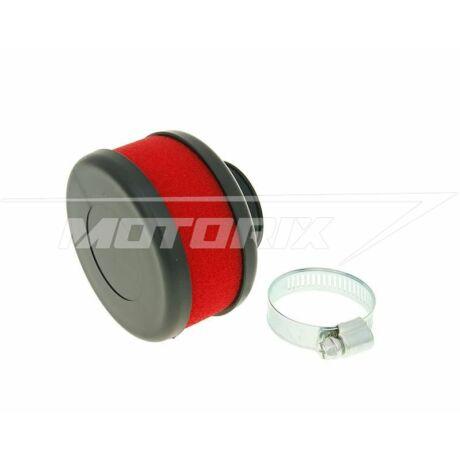Levegőszűrő 28-35mm lapos egyenes piros V-parts