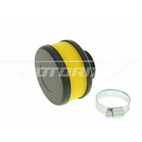 Levegőszűrő 28-35mm lapos egyenes sárga V-parts