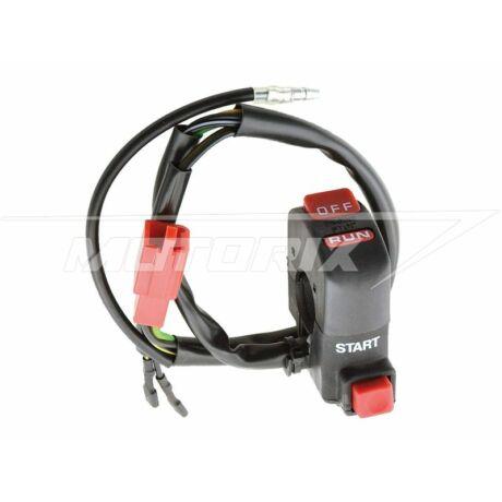 Kormánykapcsoló indító gomb piros univerzális V-Parts