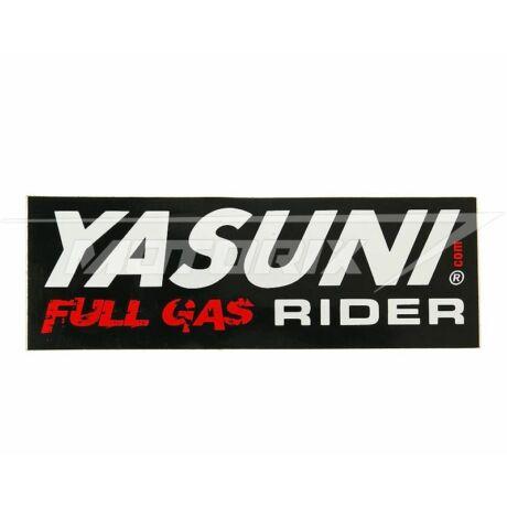Matrica 110x38mm Yasuni Full Gas Rider